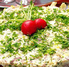 Matjestårta - smörgåstårta | Recept.nu
