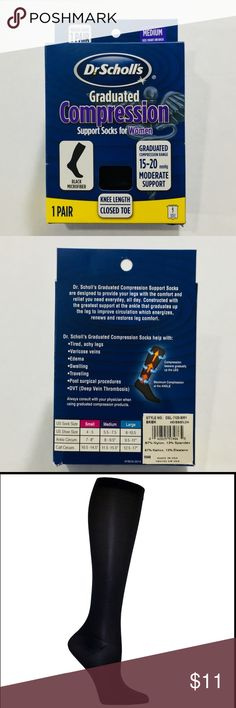 78f8126ca6 Dr. Scholl's~ Microfiber Compression Support Socks Constructed with the  greatest support at the ankle