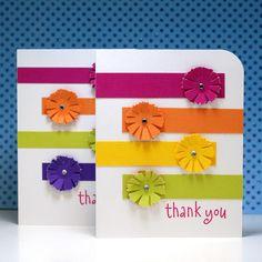 Thank You Rainbow Flowers - Scrapbook.com