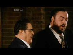 "Luciano Pavarotti sings a duet with his father: ""Panis Angelicus""during Mass at the local church where he grew up. Beautiful but only one minute long."