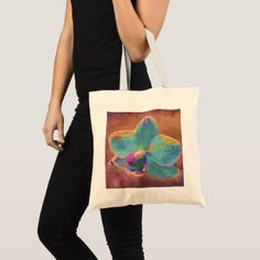 Orchid tote - personalize gift idea special custom diy or cyo