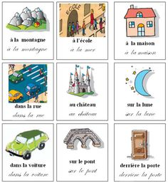 Les prépositions French Teaching Resources, Teaching Activities, Teaching French, How To Speak French, Learn French, French Prepositions, French For Beginners, Core French, French Grammar