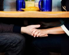 hands touch/ engagement/ couples