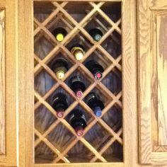 Built in wine rack in the cupboards!