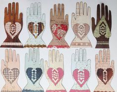 Folk Art, Heart in Hand, Scherenschnitte, Folk Art Hand, Primitive Hand, Folk Art Heart, Set of 10, Paper Embellishments, Love Token