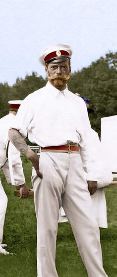 Tsar Nicholas II of Russia pictured here showing off the dragon tattoo that he got during a trip to Japan in Tsar Nicolas, Tsar Nicholas Ii, Czar Nicolau Ii, Russia Pictures, Adele, House Of Romanov, Imperial Russia, Cover Tattoo, Color Of Life