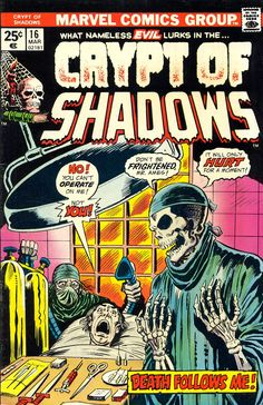 Crypt Of Shadows n°16, March 1975, cover by Ron Wilson and Mike Esposito