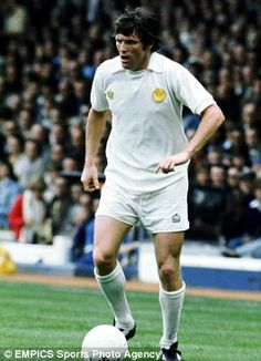 Eddie Gray wearing the Leeds United kits of the early seventies