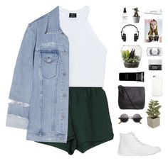 """""""I'm back"""" by f-resh ❤ liked on Polyvore featuring Zara, Acne Studios, Converse, Crate and Barrel, Pieces, Black Apple, Givenchy, Korres, Threshold and MAC Cosmetics"""