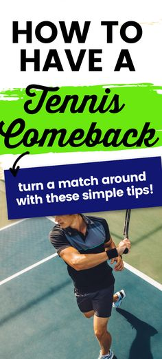 If you are losing a tennis match try these simple tips to turn it around.  Tennis is a very mental game and if you can change your thinking you will become a better tennis player and win more tennis matches. Tennis Workout, Tennis Match, Tennis Tips, Tennis Players, You Changed, Comebacks, Thinking Of You, How To Become, Thinking About You