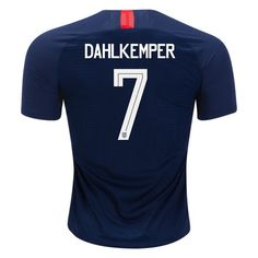 2837a3e6446 2018 19 Abby Dahlkemper Jersey Away Authentic Men s USA National Soccer  Soccer City