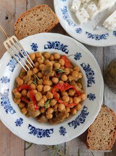 Λεμονάτα ρεβίθια με μανιτάρια, δεντρολίβανο και κάρυ Black Eyed Peas, Chana Masala, Food For Thought, Curry, Vegetarian, Cooking, Ethnic Recipes, Kitchen, Cuisine