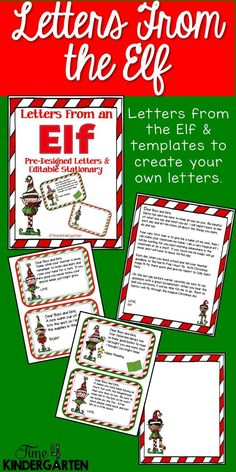 Elf on the Shelf Letters for the classroom. Leave letters from the Elf for your…