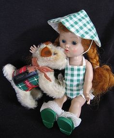 "DARLING VINTAGE 1950'S ""GINNY PUP"" WITH A STEIFF EAR BUTTON"