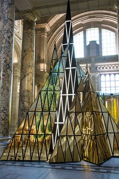 #Christmas is here! The new 2014 #V&A Christmas Tree installation by Gareth Pugh is up. Why not check out the #Constable exhibiton while you are there? EY go free as corp members.