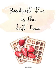Breakfast time is the best time - Food illustration on Behance
