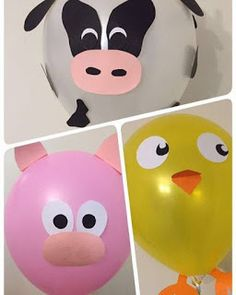 No photo description available. Farm Animal Party, Farm Animal Birthday, Barnyard Party, Farm Birthday, Farm Party, 2nd Birthday Parties, Barn Parties, Balloon Animals, Animal Balloons