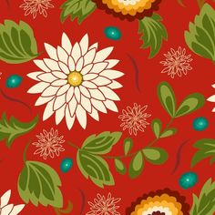 "Oreganata is an original fabric design by Dana Brooks of My Lazy Daisy.  It is 100% cotton and is on sale for $6.95 per yard, 44/45"" wide..."