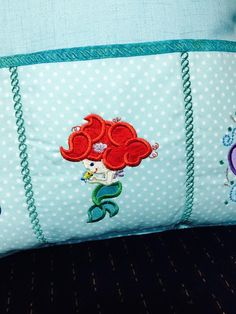 Princess Mermaid Pillow for remote controls, controllers, phones or whatever you need to use the pockets for