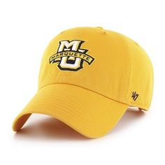 official photos cfc61 f0a6b ... order marquette golden eagles clean up 47 brand gold adjustable hat  198f1 f03b7