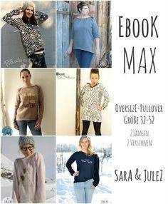 Ebook Oversize-Pullover MAX Gr. 32-52 bei Makerist