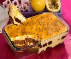Pavê com bolo de chocolate e mousse de maracujá é combinação perfeita - Correio do Estado