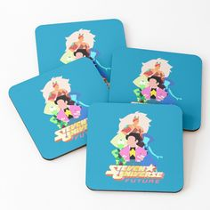 'Steven Universe Homeworld Gems' Coasters by rainbowdreamer Steven Universe Homeworld, Gem S, Drink Coasters, Coaster Set, Adventure Time, Print Design, Great Gifts, My Arts, Fan Art