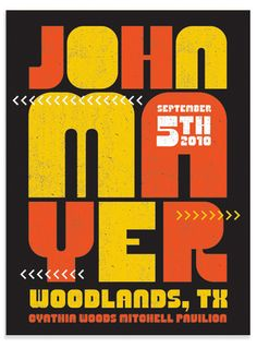 John Mayer Poster Houston by Tad Carpenter