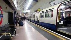London Underground 1973 stock Piccadilly Line train arrives/departs northbound at King's Cross St Pancras station