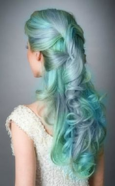 Amazing pastel hair #iwantthathair #pastelhair #hairup #halfuphair #hair #pastel