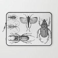 Laptop Sleeve featuring Vintage Beetle by LebensART