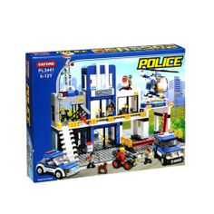Oxford Lego Style Block Toy PL3441 - Police Headquarters