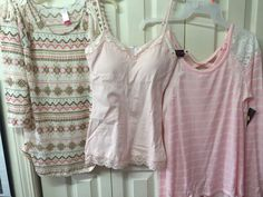 Girls Tops Junior Lot Long Sleeve Mix Pieces Pink Peach Beige Size 7/9 Spring #NoBoundaries #Tunic #Casual