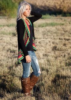 (PRE-SALE) Black Multi Colored Crochet Sweater-
