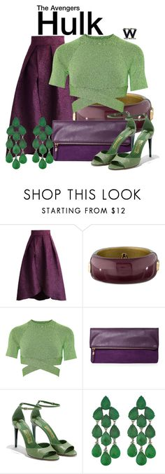 """""""The Avengers"""" by wearwhatyouwatch ❤ liked on Polyvore featuring Chicwish, Alexis Bittar, T By Alexander Wang, Salvatore Ferragamo, Siman Tu, wearwhatyouwatch and film"""