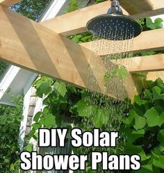 10 DIY Solar Heated Outdoor Shower Ideas