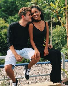 Image may contain: 2 people, sitting and outdoor - Today Pin Interracial Couples, Biracial Couples, Interracial Wedding, Black And White Couples, Black White, White Man, Mixed Couples, Couples In Love, Cute Relationship Goals