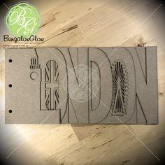 LONDON Scrapbook album by @BungalowGlow on #Etsy #london #scrapbook #Travel #bigben #londoneye #UK