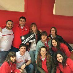 De #CruzRoja #Euskadi a #CruzRoja #Córdoba con toda la ilusión. #Actua16 #VoluntariadoCRE