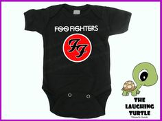 Foo Fighters Band Cool Baby Onesie. 100% Cotton. Gift.