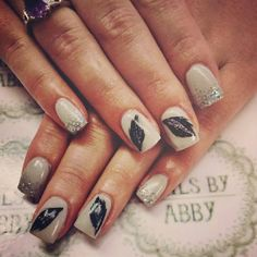 Feather nails.. Oct 2014 Feather Nails, My Nails, Beauty, Beleza, Cosmetology