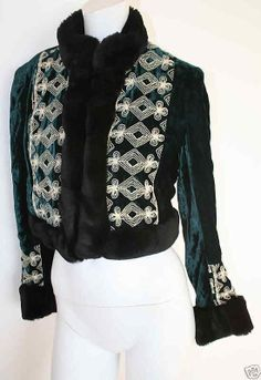 Anna Sui 1990s embroidered velvet jacket
