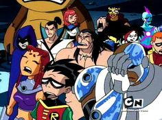Sorry, but aqua lad looks like he's singing a high note while everyone else looks like they tasted something bad.