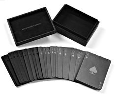 How Chic are these playing cards... with an embossed alligator case (faux:) and all!  www.alexanderwang.com