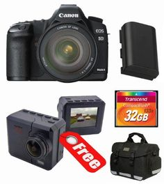 Canon EOS 5D Mark II Digital Camera Kit with Canon 24-105mm f/4L IS USM AF Lens + Transcend 32 GB 133x CompactFlash Memory Card + Deluxe Camera Bag + 2pc Filter Kit + Spare Battery + BONUS CamOne Infinity Action Camera by Canon. $2999.00. The Willoughby's Canon Kit Includes: 1. Canon EOS 5D Mark II Digital Camera (body) 2. Canon 24-105mm f/4L IS USM AF Lens  3. Transcend 32 GB 133x CompactFlash Memory Card TS32GCF133 4. Professional 2pc Multi-Coated Essential Lens Filter Kit ...