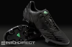 adidas Football Boots - adidas Predator LZ TRX FG - Firm Ground - Soccer Cleats - Black-Black-Green Zest