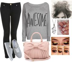 """""""I'm Awesome"""" by k-cat on Polyvore"""