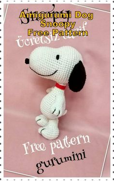 In this article we will share the amigurumi dog snoopy free crochet pattern. Amigurumi related to everything you can not find and share with you. Chat Crochet, Crochet Mignon, Crochet Amigurumi Free Patterns, Crochet Animal Patterns, Crochet Dolls, Crochet Animals, Crochet Animal Amigurumi, Afghan Patterns, Crochet Baby