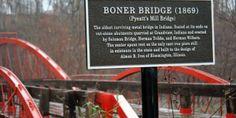 Indiana Bridges: Boner Bridge in Hatfield, Indiana   littleindiana.com