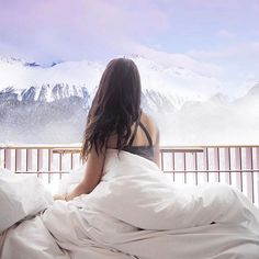 Good morning from this magical place! Nothing beats waking up to a beautiful view  #theglamandglittertravels #stmoritz